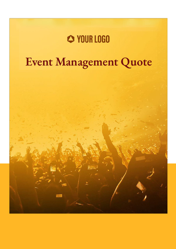 Event Management Quote