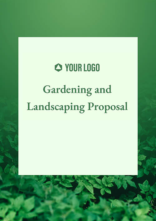 Gardening and Landscape Proposal