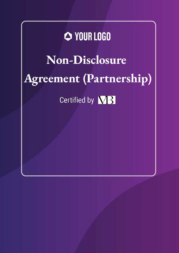 Non-Disclosure Agreement (Partnership)