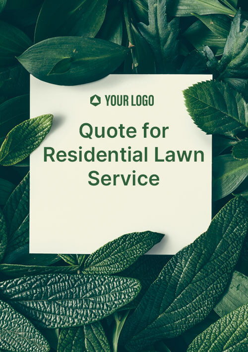 Quote For Residential Lawn Service