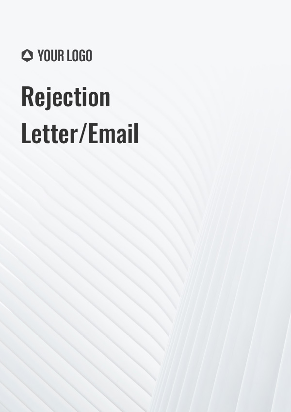 Rejection Letter/ Email