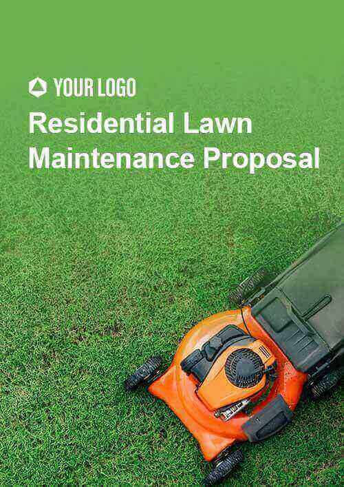 Residential Lawn Maintenance Proposal
